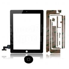 Ecran/Vitre tactile pour iPad 3 (WiFi & 3G) + Autocollant 3M et contour + bouton home