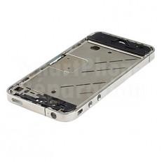 Contour chrome / métallique bezel avec tiroir sim + bouton vibreur, volume et On/off pour iPhone 4