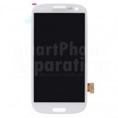 Écran complet LCD + vitre + châssis + bouton home avec nappe pour Galaxy S3 i9300